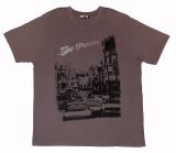 T-shirt manches courtes motif San Francisco Brun de 3XL à 6XL