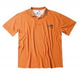Polo sport manche courte col ligné orange de 2XL à 7XL