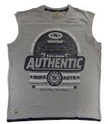 T-shirt sans manche Gris Motif Vintage imprimé de 1XL à 4XL
