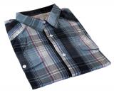 Chemise manches courtes carreaux noir gris bleu bordeaux de 3XL à 7XL