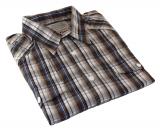 Chemise manches courtes carreaux brun bleu de 3XL à 7XL