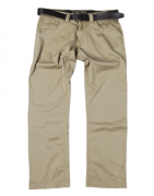 Pantalon 5 poches en toile kaki clair de 36 à 70