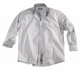 Chemise manches longues lignée noir sur blanc 2XL à 6XL