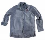 Chemise manches longues lignée bleu marine sur blanc 2XL à 6XL