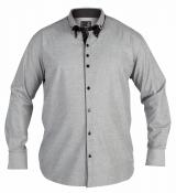 Chemise Fashion DENZIL gris clair de XL à 4XL