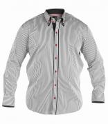 Chemise Fashion KENDALL blanc  ligné noir de 1XL à 4XL