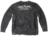 Sweat à col rond gris anthracite 6XL