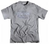 T-shirt gris chiné manches courtes imprimé de 2XL à 7XL