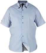 Chemisette Fashion Cooper fines lignes bleu et blanc