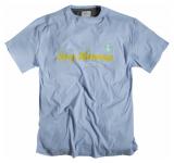 T-shirt bleu clair manches courtes imprimé de 6XL à 7XL