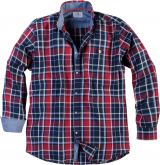 Chemise manches longues Carreaux Rouge Bleu 3XL à 8XL