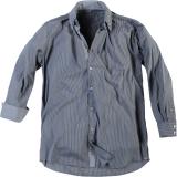 Chemise fashion manches longues ligné bleu et gris 3XL à 8XL