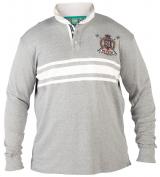 Polo fashion gris rayé beige clair Col boutonné de 1XL à 6XL