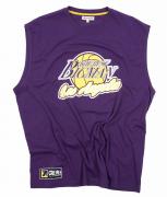 T-shirt sans manche Basketball Los Angeles violet de 3XL à 8XL