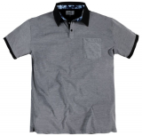 Polo fashion manches courtes Mélange de gris de 3XL à 7XL
