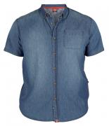 Chemisette jeans bleu délavé de 2XL à 3XL