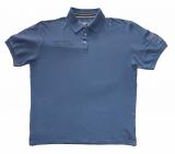 Polo piqué de qualité bleu de 3XL à 8XL