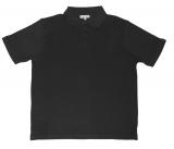 Polo Piqué de qualité noir de 3XL à 8XL
