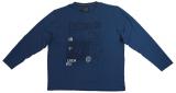 T-shirt Imprimé Maritime manches longues bleu 3XL à 8XL