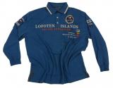 Polo hiver bleu motif Nautique