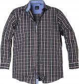 Chemise manches longues carreaux noir bordeaux blanc 3XL à 8XL