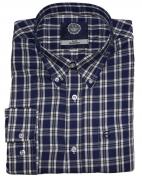 Chemise manches longues carreaux bleu et blanc de 3XL à 8XL