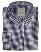 Chemise manches longues carreaux brun bleu blanc de 4XL à 8XL
