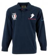 Polo manches longue motif Rugby France bleu marine de 3XL à 8XL