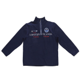Sweat polaire bleu marine motif ISLANDS LOFOTEN