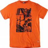Tshirt imprimé orange 2XL à 8XL