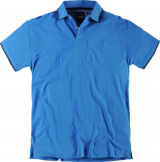 Polo piqué manches courtes bleu azur de 2XL à 8XL