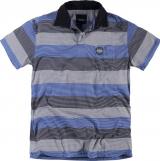 Polo manches courtes ligné bleu de 2XL à 8XL