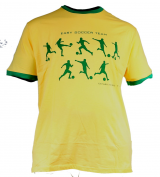 T-shirt manches courtes Football vert et jaune de 3XL à 8XL