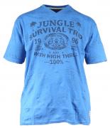 T-shirt manches courtes bleu atlantique 3XL à 8XL