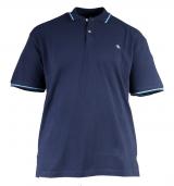 Polo piquet manches courtes bleu marine