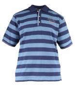Polo piqué manches courtes marine et bleu de 2XL à 5XL