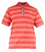 Polo piqué manches courtes rouge et orange de 2XL à 5XL