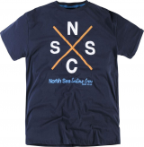 T-shirt Imprimé manches courtes bleu marine 2XL à 8XL