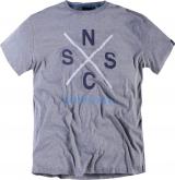 T-shirt Imprimé manches courtes gris chiné 2XL à 8XL