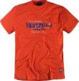 T-shirt Imprimé manches courtes orange 2XL à 8XL