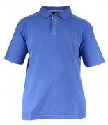 Polo piqué manches courtes bleu atlantique de 3XL à 6XL