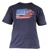T-shirt manches courtes bleu chiné de 2XL à 5XL