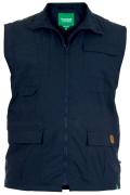 Gilet sans manche multi-poches bleu marine de 3XL à 6XL
