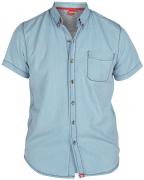 Chemisette Fashion bleu clair denim de 3XL à 6XL