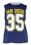 T-shirt sans manche Basket bleu de 3XL à 8XL