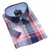 Chemise manches courtes carreaux bleu rouge blanc de 3XL à 6XL