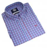Chemise manches courtes carreaux bleu rouge blanc de 3XL à 8XL