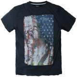 T-shirt Rock Jimi Hendrix manches courtes gris anthracite 3XL à 8XL