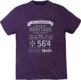T-shirt Imprimé manches courtes violet 3XL à 6XL