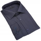 Chemise manches longues grands Gris Bleu de 3XL à 8XL